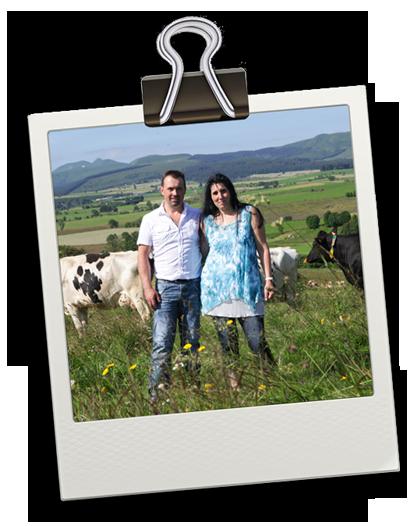 Marie et Romain Chantaduc producteurs de fromage saint-nectaire fermier AOP